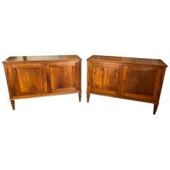 Pair of 18th Century Venetian Walnut Credenza