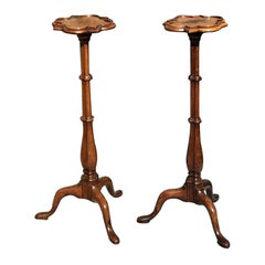 Pair of 18th Century Walnut Torchères Candlestands
