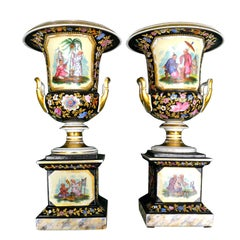 "Pair of 19th Century French ""Chinoiserie"" Porcelain Vases"
