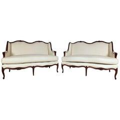 Pair of 1900s French Louis XVI Style Sofas