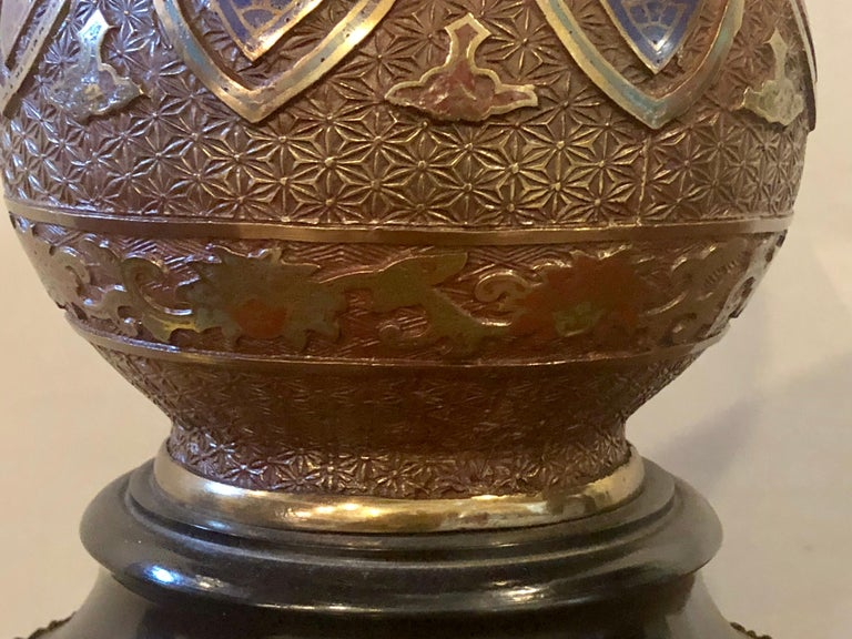 Pair of 1920s Bronze Urn Form Glass Top End or Pedestal Tables For Sale 4