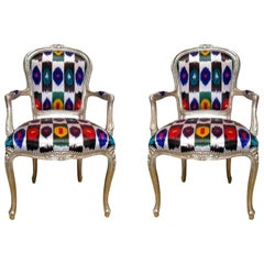 Pair of 1920s French Louis XV Style Armchairs