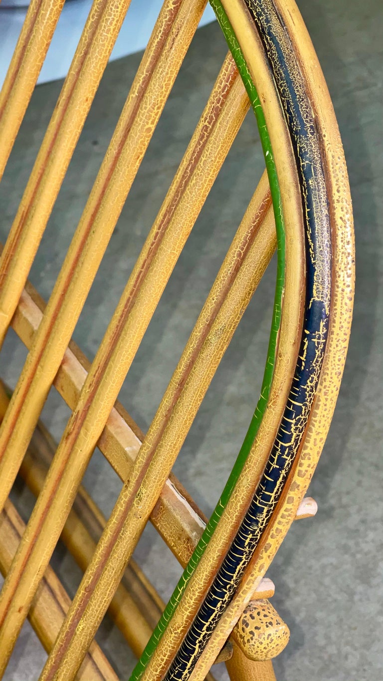 Pair of 1920s Heywood Wakefield Rattan Lounge Chairs For Sale 4