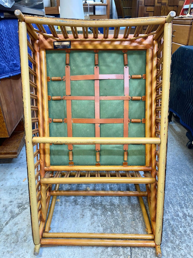 Pair of 1920s Heywood Wakefield Rattan Lounge Chairs For Sale 6