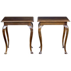 Pair of 1920s Oak Occasional Tables