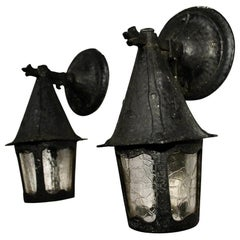 Pair of 1920s Outdoor Sconces