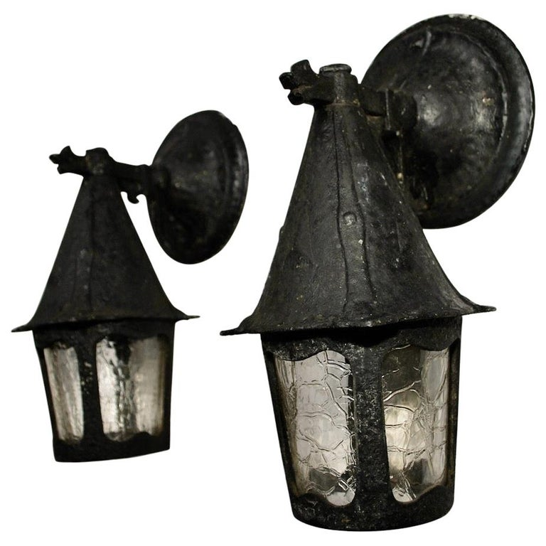 Pair of 1920s Outdoor Sconces For Sale
