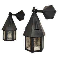 Pair of 1920's Outdoor Sconces, 'Restored'