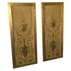 Pair of 1920s Painted Panels