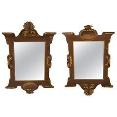 Pair of 1920s Trompe L'oeil Mirrors