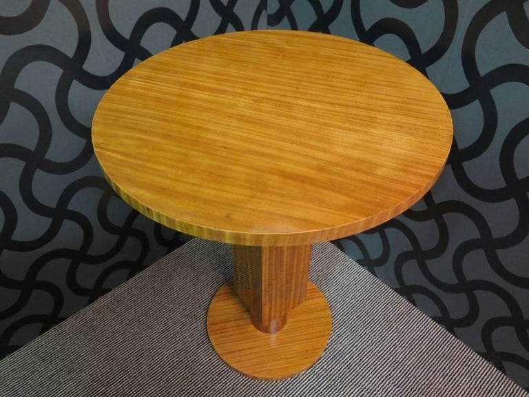 Pair of 1930 Cedar Wood Art Deco Side Tables 8