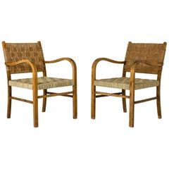 Pair of 1930s armchairs by Axel Larsson