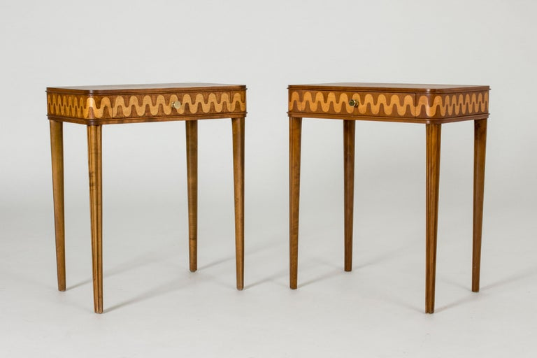 Scandinavian Modern Pair of 1930s Bedside Tables from NK