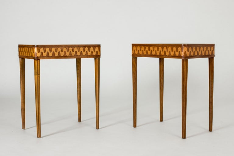 Swedish Pair of 1930s Bedside Tables from NK