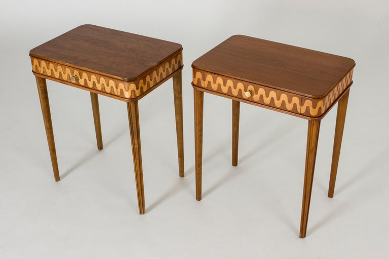 Pair of 1930s Bedside Tables from NK In Good Condition In Stockholm, SE