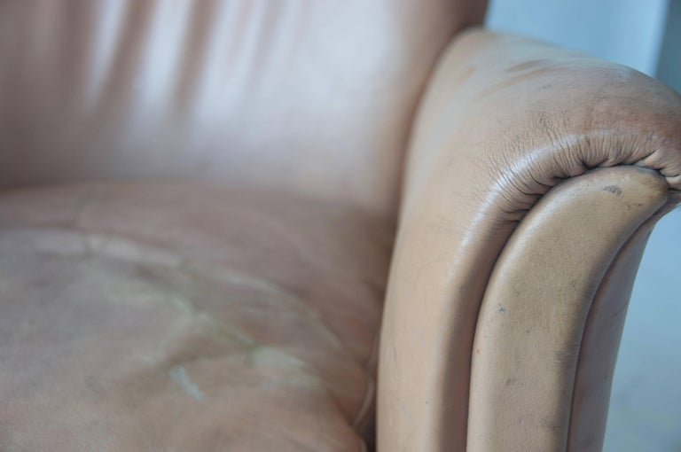 Pair of 1930s Danish Leather Club Chairs For Sale 1