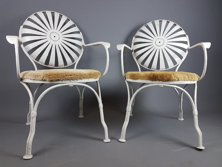 French Pair of 1930s Francois Carre Chairs For Sale