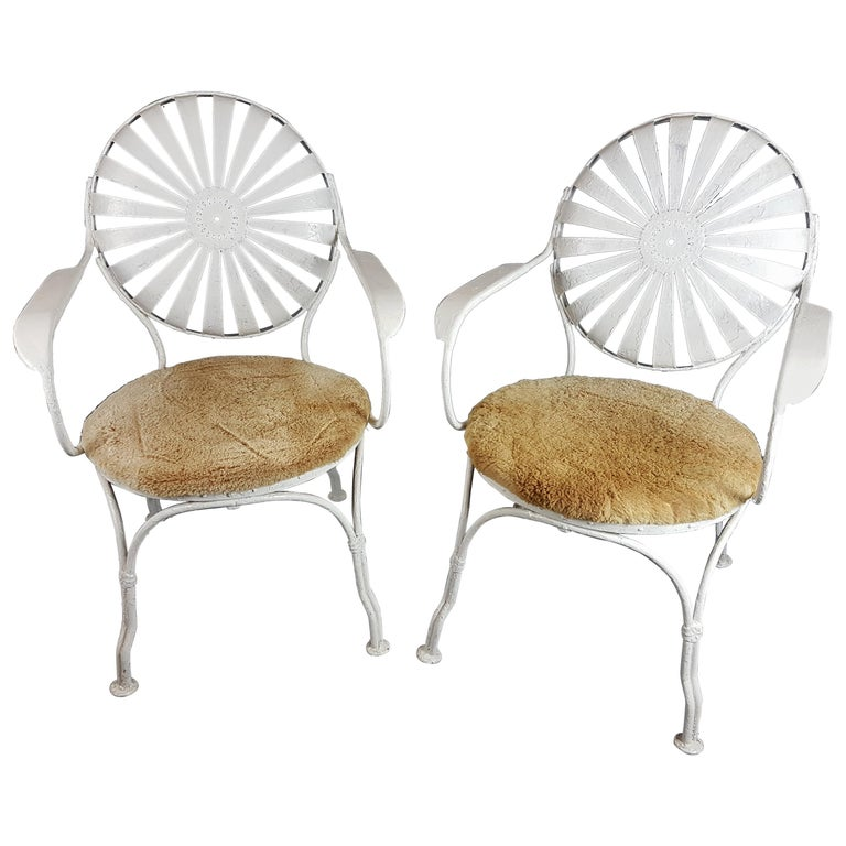Pair of 1930s Francois Carre Chairs For Sale