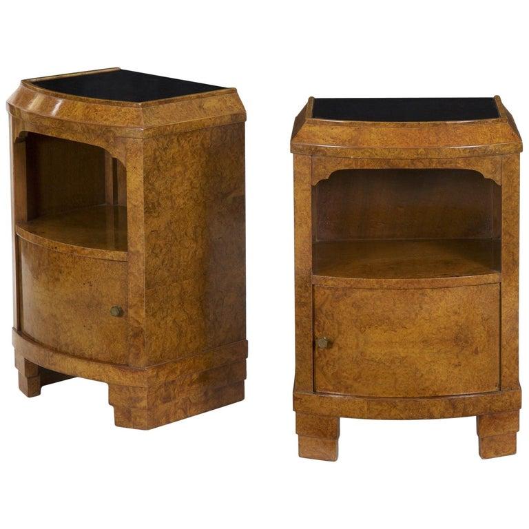 bf8705b595af Pair of 1930s French Art Deco Bedside Tables Vintage Nightstands For Sale
