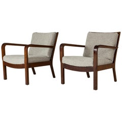 Pair of 1930s Lounge Chairs by Edvard Kindt-Larsen
