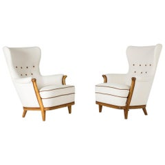 Pair of 1930s Lounge Chairs by Gustaf Allert