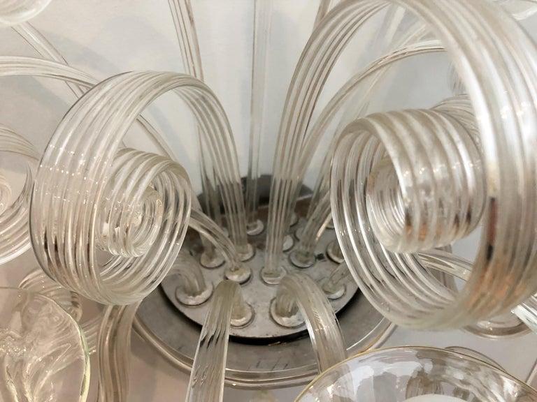 Art Deco Pair of 1930s Veronese Glass Sconces For Sale