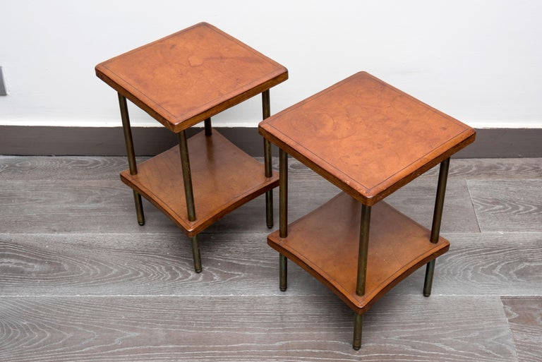 Mid-20th Century Pair of 1940s Side Tables For Sale