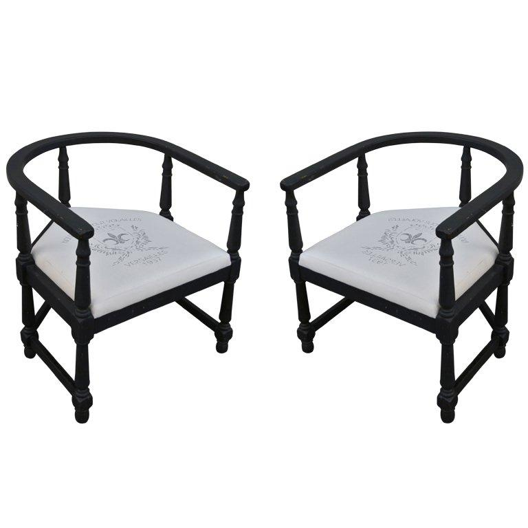 Pair of 1940s Armchairs For Sale