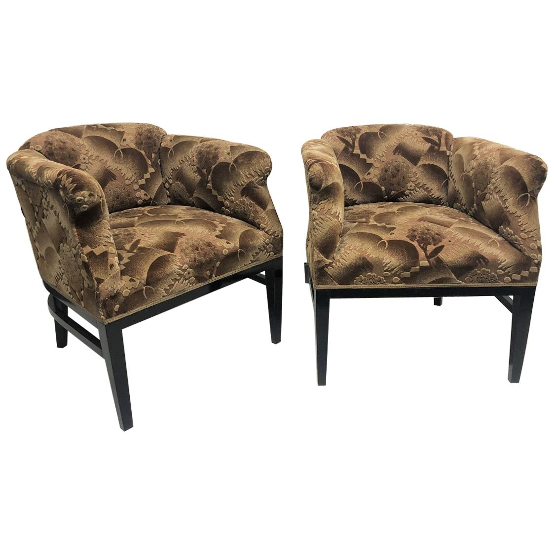 Pair of 1940s Art Deco Lounge Chairs