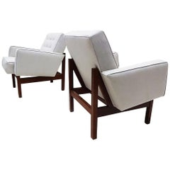 Pair of 1940s Easy Chairs Attributed to Florence Knoll