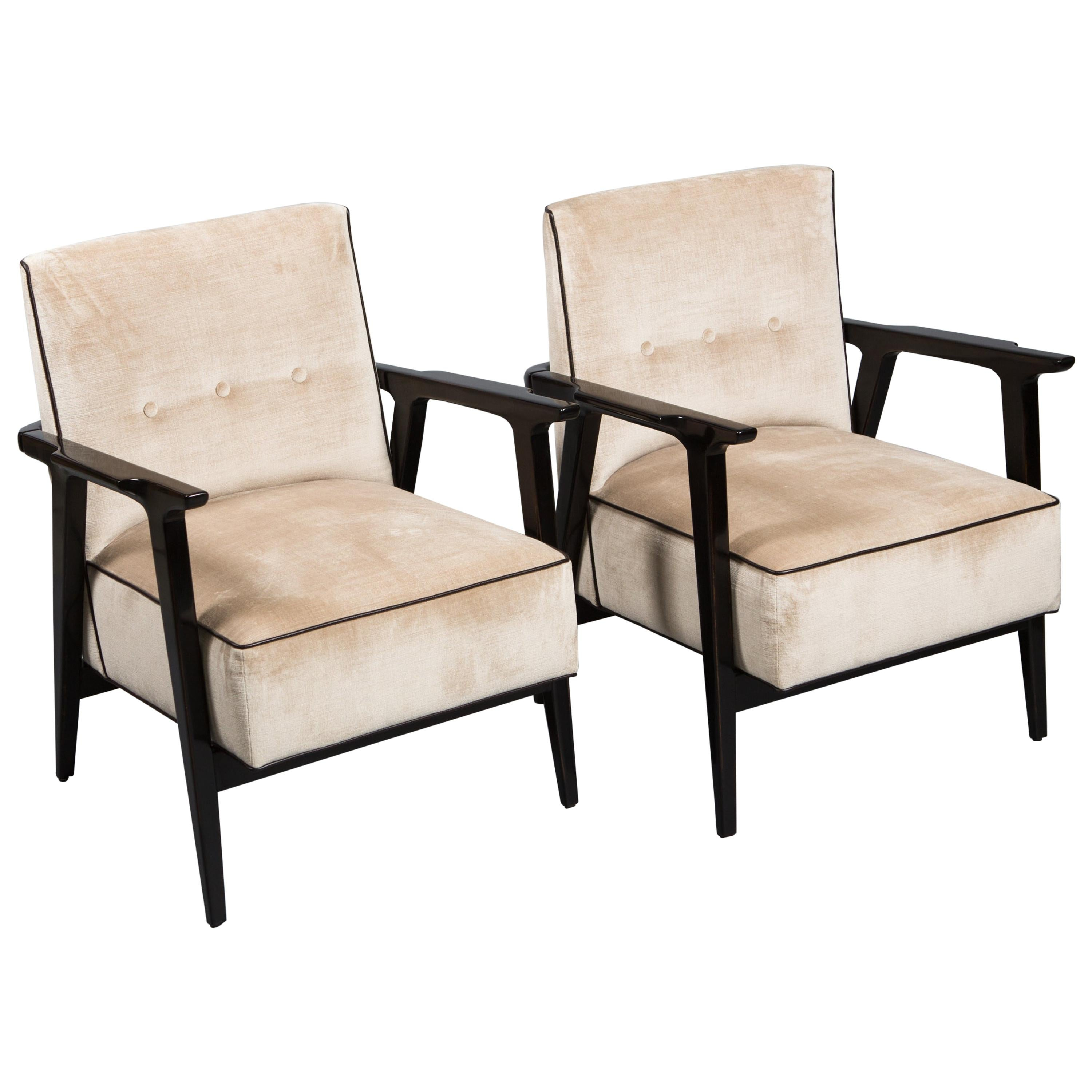 Pair of 1940s French Art Deco Armchairs