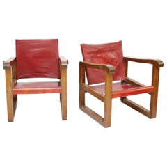 Pair of 1940s French Country Armchairs