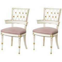 Pair of 1940s French Rope Back Chairs