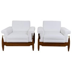 Pair of Mid-Century Italian Lounge Chairs