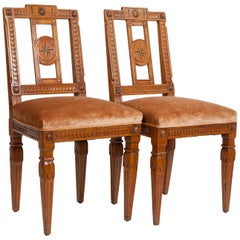 Pair of 1940s Italian Neoclassical Sidechairs