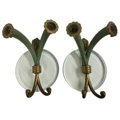 Pair of 1940s Italian Sconces in Style of Pietro Chiesa