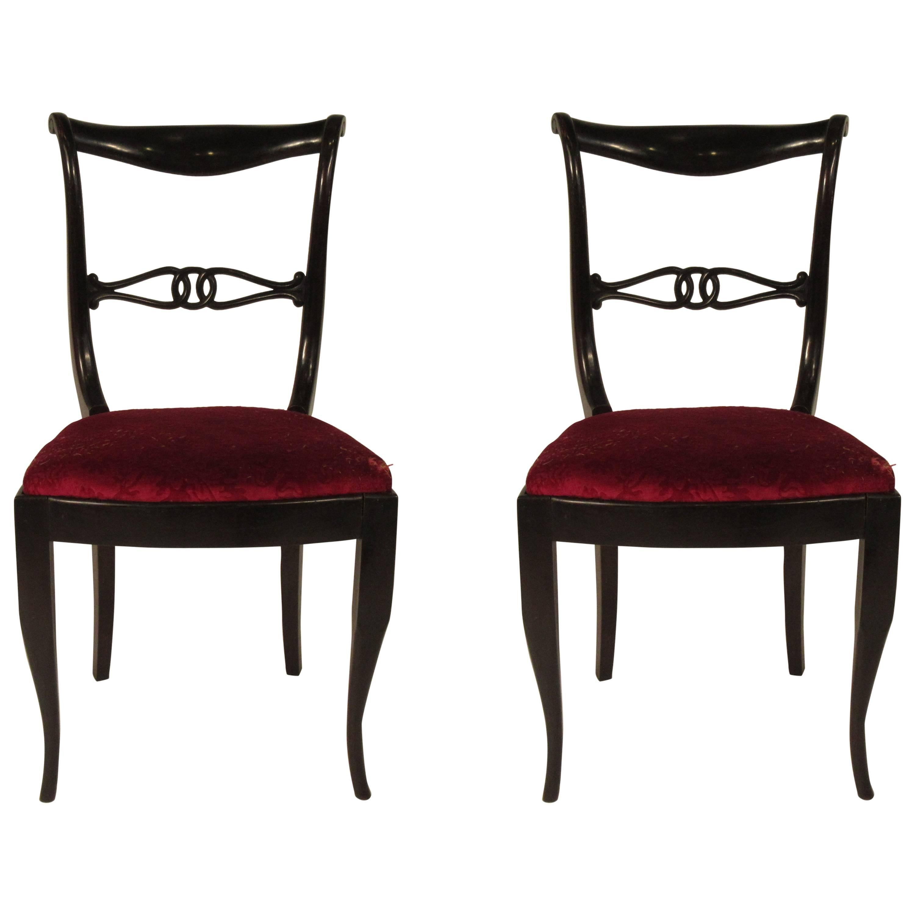 Pair of 1940s Italian Side Chairs