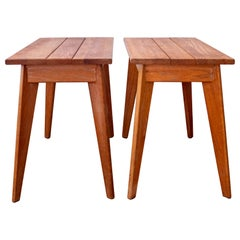 Pair of 1940s Limed Oak Side Tables
