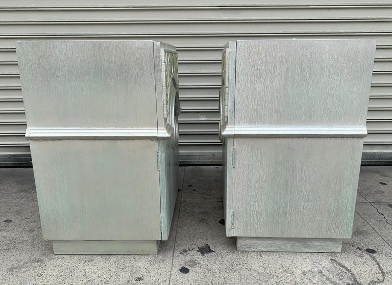 Pair of 1940s Nightstands by James Mont, Signed For Sale 3