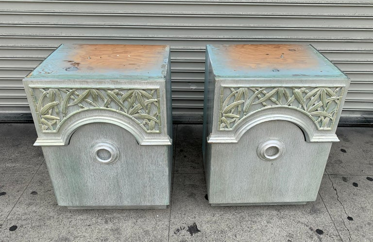 Mid-20th Century Pair of 1940s Nightstands by James Mont, Signed For Sale
