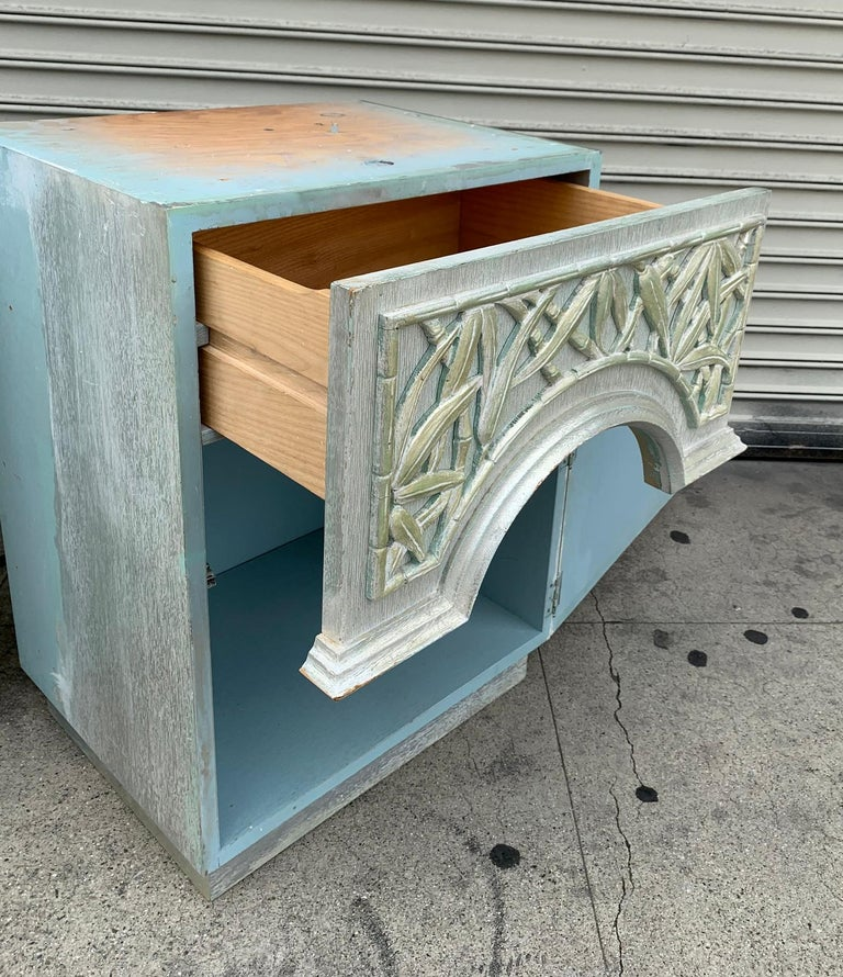 Pair of 1940s Nightstands by James Mont, Signed For Sale 1
