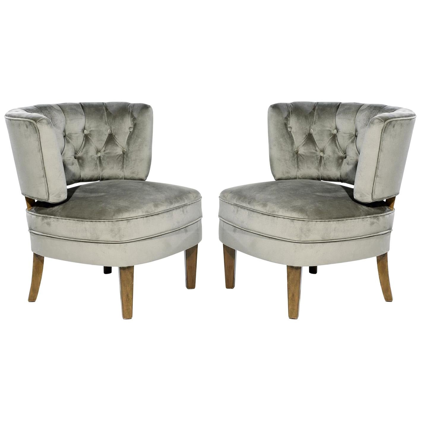 Pair of 1940s Otto Schulz Easy Chairs