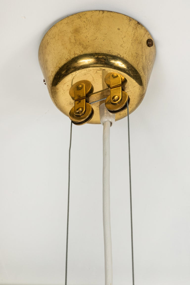 Pair of 1940s Paavo Tynell 'A1942' Counterweight Pendants for Idman Oy For Sale 7
