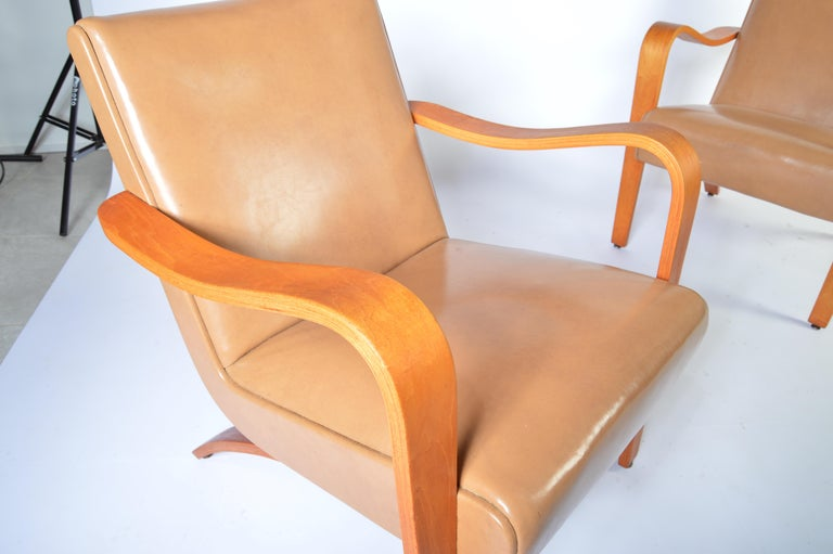 Remarkable Pair Of 1940S Thonet Bentwood Lounge Chairs At 1Stdibs Spiritservingveterans Wood Chair Design Ideas Spiritservingveteransorg
