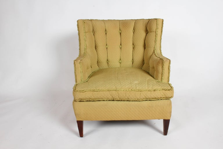 Hollywood Regency Pair of 1940s Tomlinson Barrel Back Lounge Chairs  For Sale