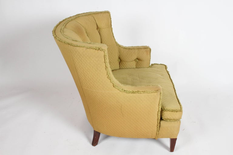 Mid-20th Century Pair of 1940s Tomlinson Barrel Back Lounge Chairs  For Sale