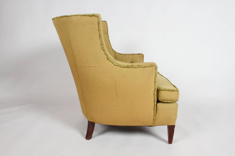 Pair of 1940s Tomlinson Barrel Back Lounge Chairs  For Sale 1