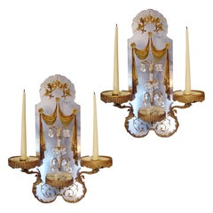 Pair of 1940s Wall Lights in the Style of Maison Baguès
