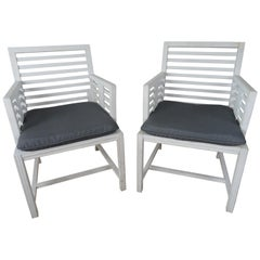 Pair of 1940s Wood Slat Chairs