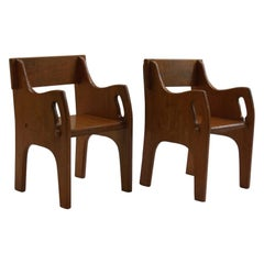 Pair of 1940s Wooden Childs Chairs CC41